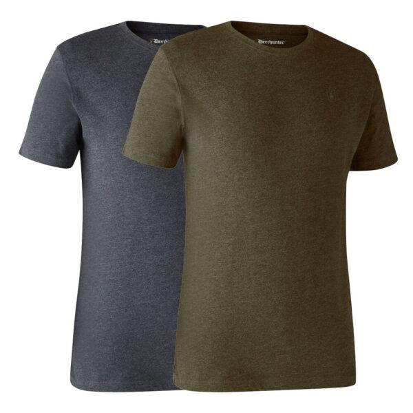 Deerhunter Basic T-Shirt, 2 pak Adventure Green Small