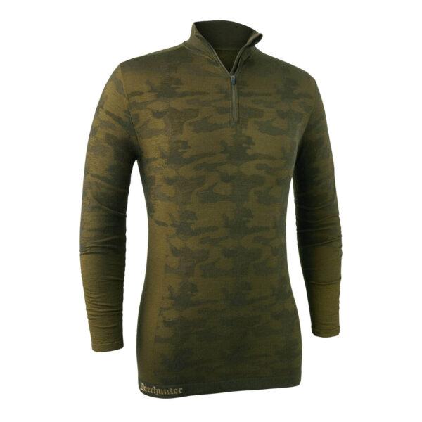 Deerhunter Camou Uldundertrøje med lynlås Beech Green S/M