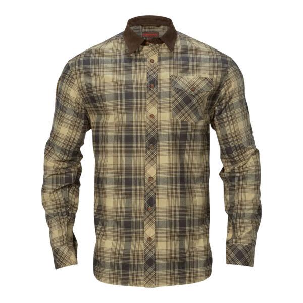 Härkila - Driven Hunt Flannel Jagtskjorte Small Lys Sand