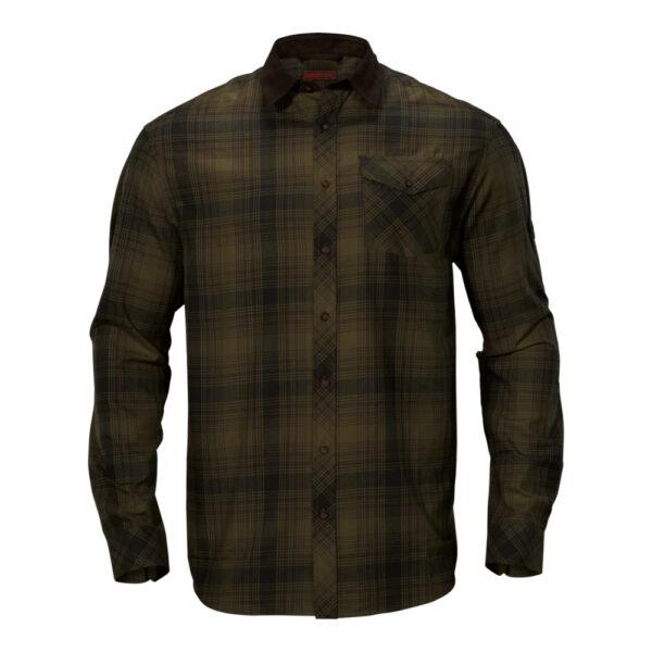 Härkila - Driven Hunt Flannel Jagtskjorte Small Mørkegrøn