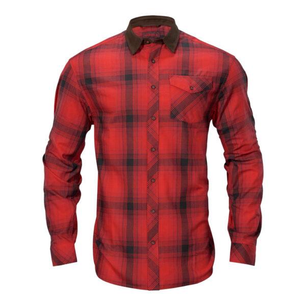 Härkila - Driven Hunt Flannel Jagtskjorte Small Rød