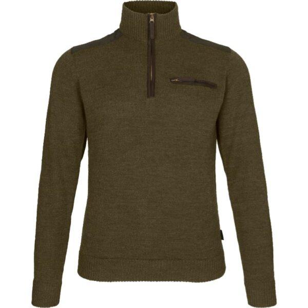 Seeland - Buckthorn Half Zip Sweater Medium Grøn